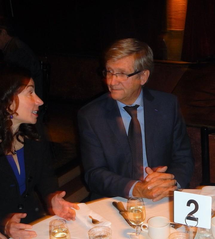 Martine Ouellet et Denis Monière, souper-conférence de L'Action nationale du 30 octobre 2015.