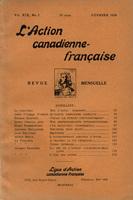 L'Action canadienne-française : couverture du numéro 2, volume XIX, février 1928.