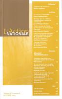 L'Action nationale : couverture du numéro 8, XCV, octobre 2005.