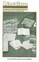 L'Action nationale : couverture du numéro 10, volume LXXXV, décembre 1995.