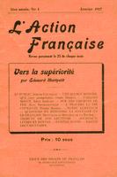 L'Action française : couverture du numéro 1, volume 1, janvier 1917.