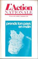 L'Action nationale : couverture du numéro 4, volume LXXI, décembre 1981.